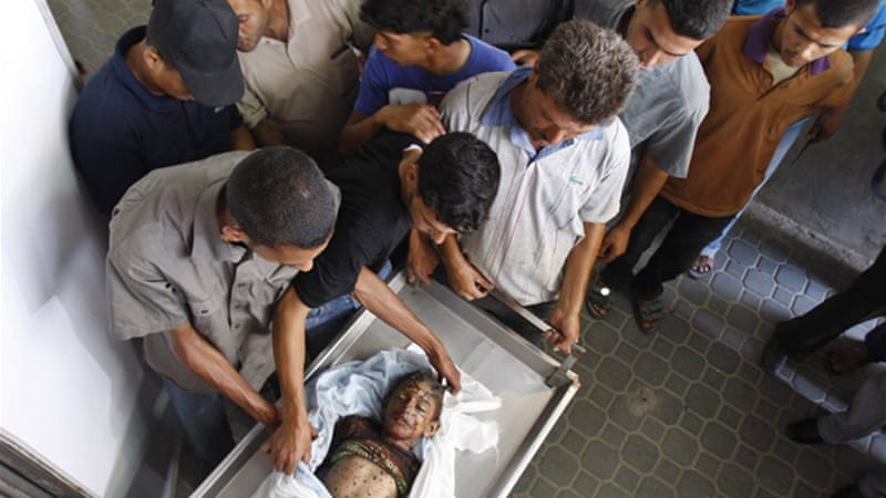 Hamas claims Ali Al-Shawaf, a six-year-old boy, was killed by Israeli airstrikes, Israel has denied the claims [Reuters]