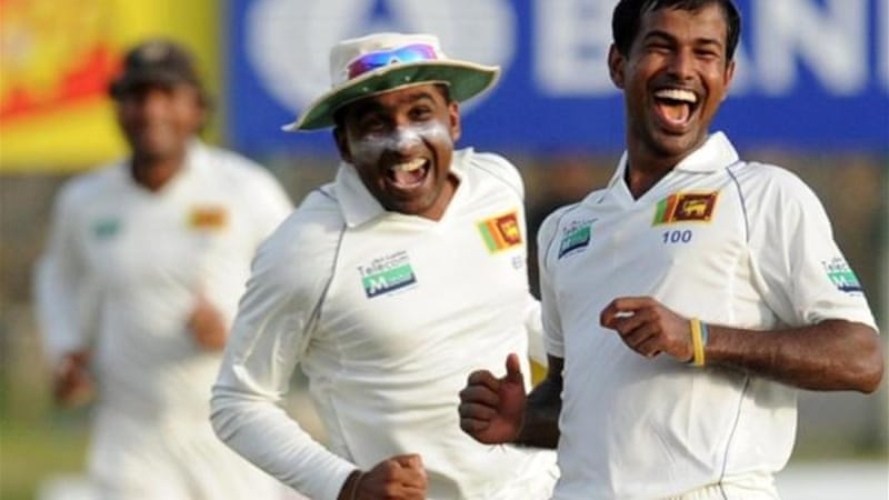 It has been smiles all round so far for Sri Lanka's cricketers during first Test [AFP]