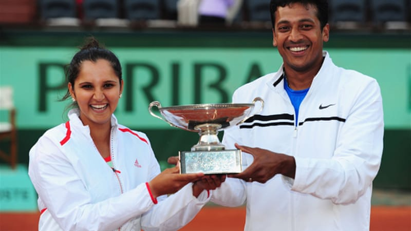 Mirza, who won the French Open mixed doubles title with Bhupathi in early June, said the saga reeked of 'male chauvinism' [GALLO/GETTY]