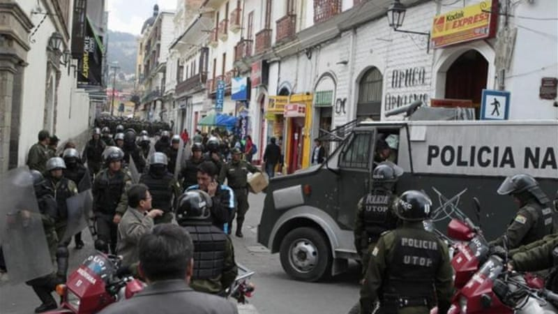 "In Bolivia, both the government and protesters claim indigenous principle of ""sumak kausay"" [Reuters]"