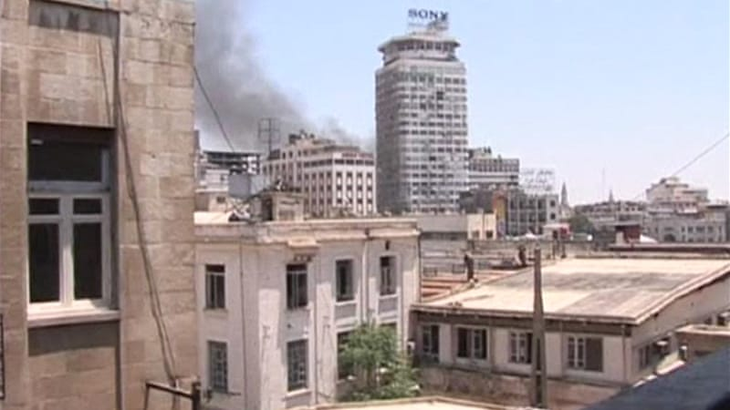 Explosion rocks Syrian capital