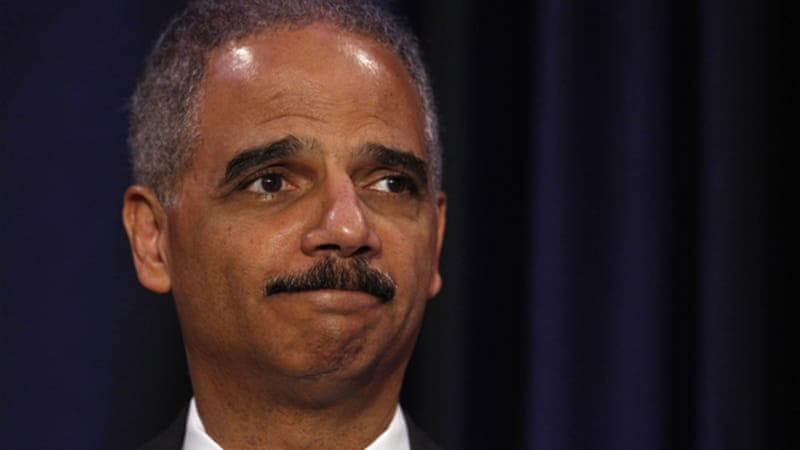 Holder is the first sitting attorney general and cabinet member to be accused of contempt by a full House [Reuters]