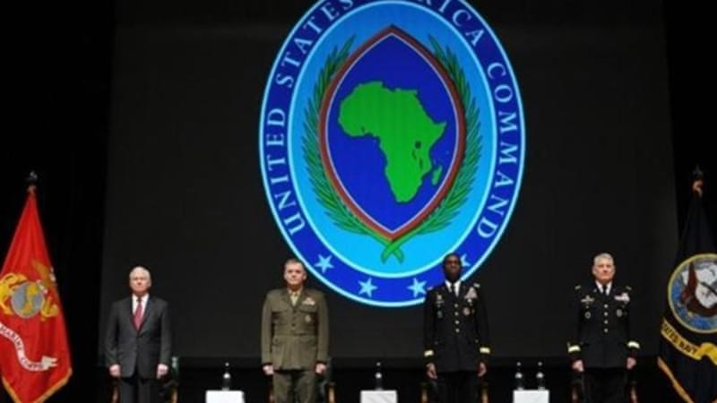 AFRICOM General William Ward (centre R) said that its number one 'theatre-wide goal' was combating terrorism [AP]