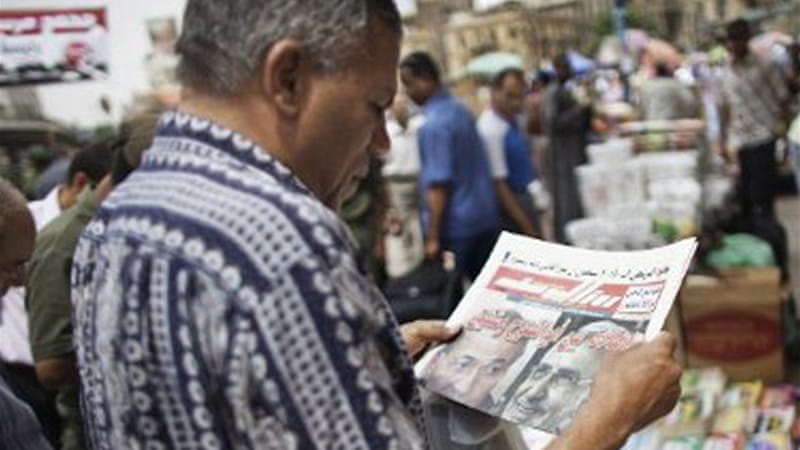 Journalists drew connection between the Mubarak verdict, renewed protests, and the upcoming election [AFP]