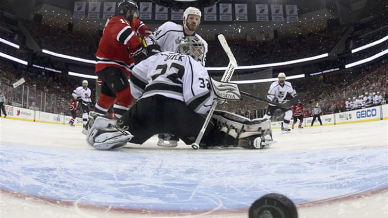 For the second straight game in the Stanley Cup finals, New Jersey lost in overtime to the Kings, 2-1 [Reuters]