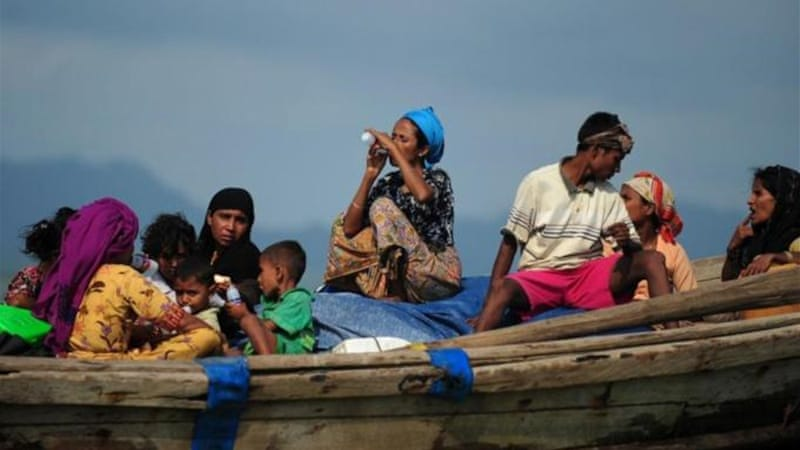 More than 300 Rohingya Muslims who fled sectarian violence were turned back by officials in Bangladesh [AFP]