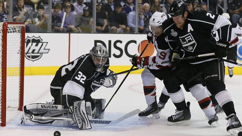 No way through - netminder Jonathan Quick records his third shutout of the season for the Kings [Reuters]