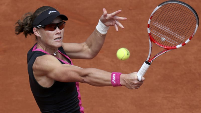 Sixth-seed Stosur eased into the final four with a convincing win over Cibulkova, and has yet to drop a set at this year's tournament [Reuters]