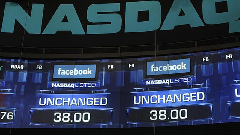 Facebook shares fell flat on its much-hyped debut day, ending barely above the starting price [Reuters]