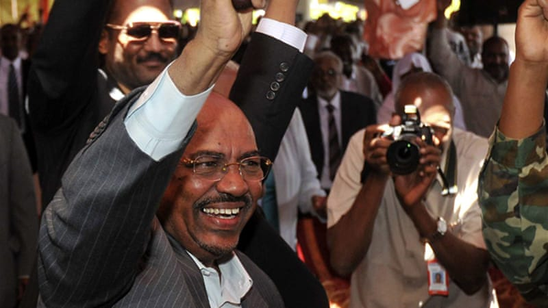 Sudan's Al-Bashir  accuses South Sudan of supporting rebels fighting the army in two southern border states [Reuters]