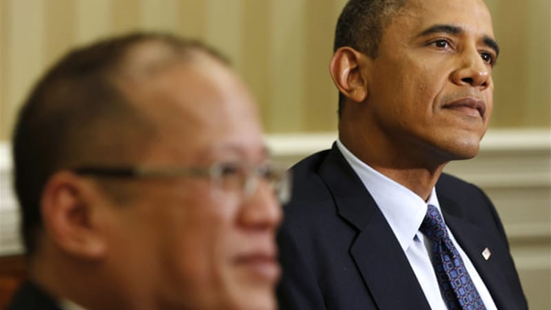 Obama has offered a robust show of support for the Philippines' Benigno Aquino over maritime space [Reuters]