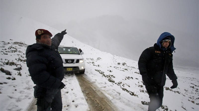 Peruvian police suspended the search efforts on Thursday due to lack of visibility in the Andean area [EPA]