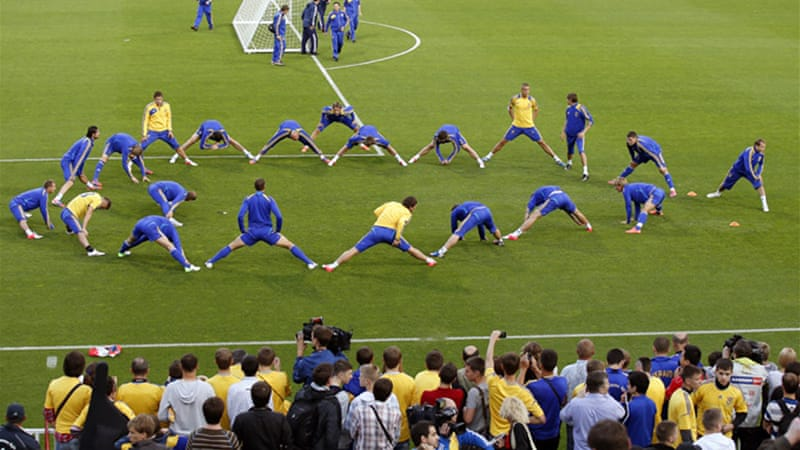 Ukraine , the co-host of Euro 2012, face England in the group stages later this month [EPA]