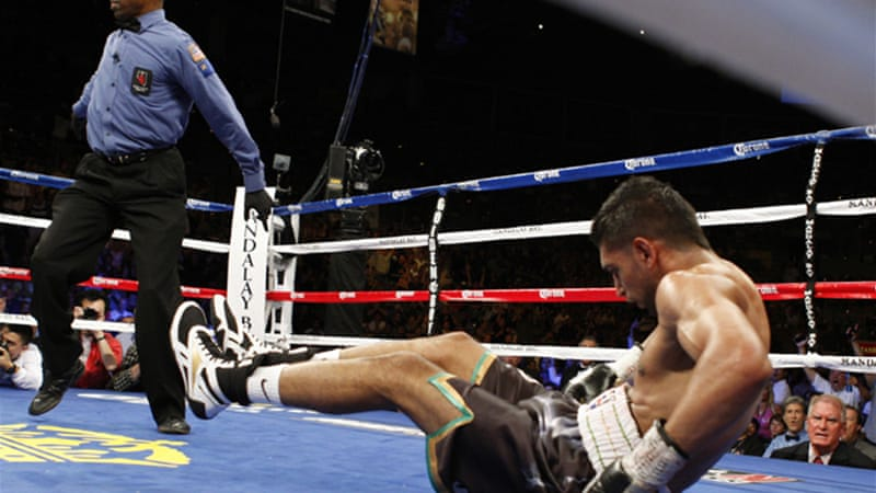 Khan's loss was his second in succession after Lamont Peterson's controversial victory last December [Reuters]