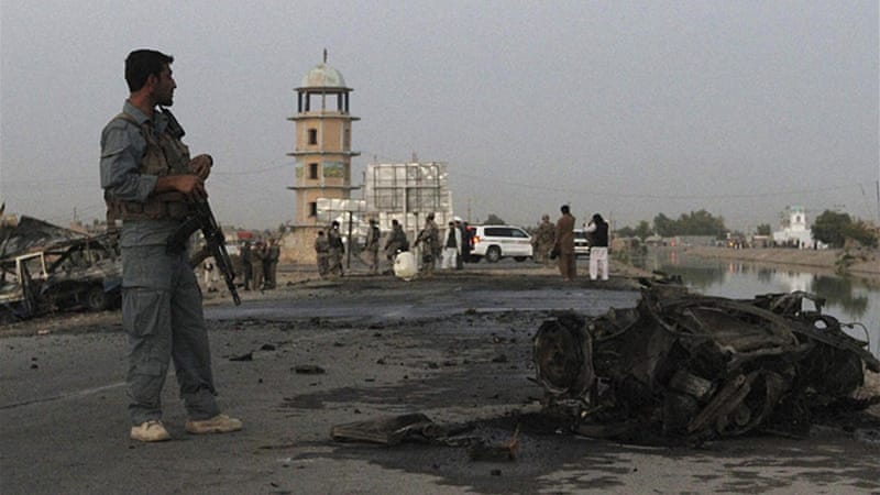 Kandahar University is two kilometres from the former compound of Taliban leader Mullah Omar  [Reuters]