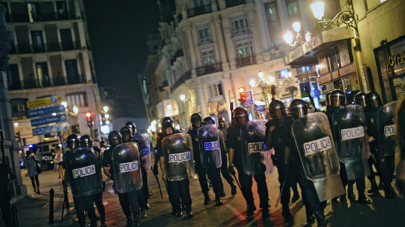Protests against the new austerity cuts have been taking place on a daily basis in Spain [AFP]