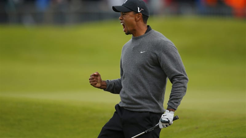 Resurgence: Tiger Woods is just four strokes off the lead heading to the weekend [Reuters]