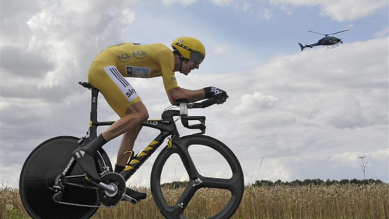 No rest for the wicked: Wiggins' next goal is the Olympic time trial race on August 1 in London [EPA]