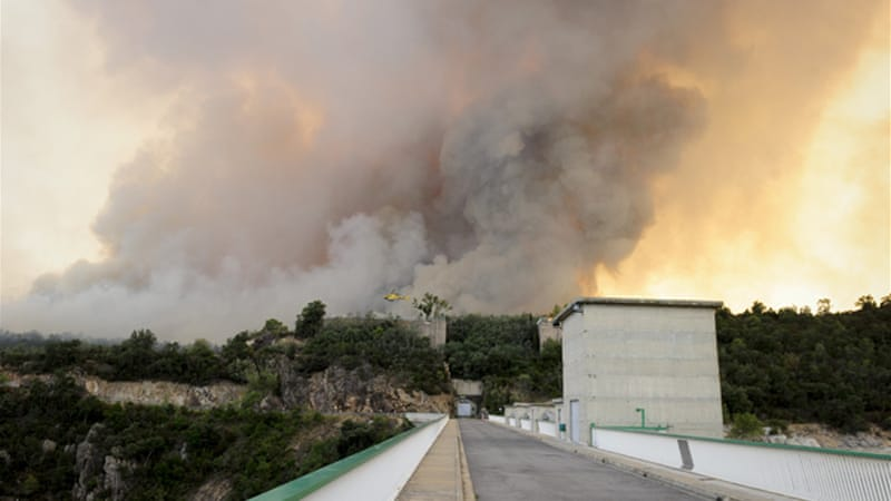 Wildfires spread quickly across Alt Emporda region near the French border and covered some 13,000 hectares [AFP]