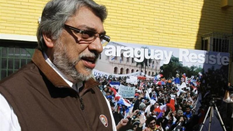 Paraguay's ousted President Fernando Lugo was removed from office in a 39-4 vote by parliament [Reuters]