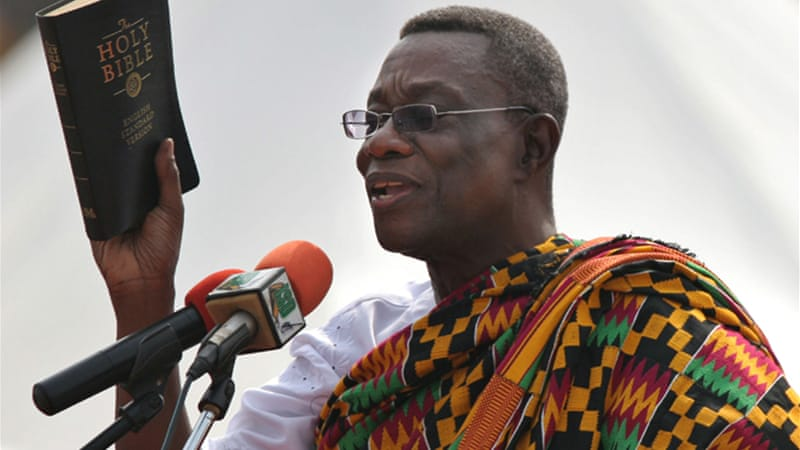 Ghana's President John Atta Mills died in office on July 24, and was succeeded by his vice-president [EPA]
