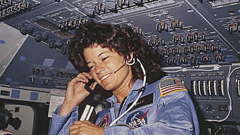 Sally Ride broke new ground for American women in 1983 when she went on her first shuttle mission [AFP]