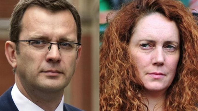 Andy Coulson and Rebekah Brooks were two of seven charged in a phone-hacking scandal on Tuesday [AFP]