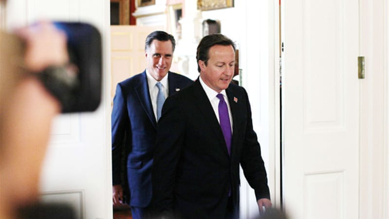 The first leg of Romney's trip, in London, was marred by gaffes that prompted mocking in the media [AFP]