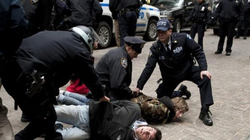 The report says that police intimidation and use of force escalated tensions with protesters in New York [AFP]