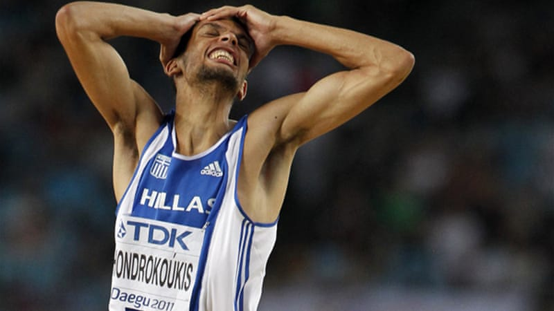 In one of the latest cases Greek world indoor high jump champion Dimitris Chondrokoukos was ruled out of the Olympics after failing a drugs test [Reuters]