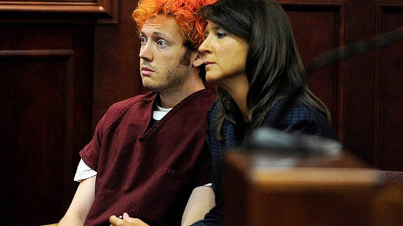 James Holmes (left) allegedly burst into a theatre killing 12 people and injuring 58 others [EPA]