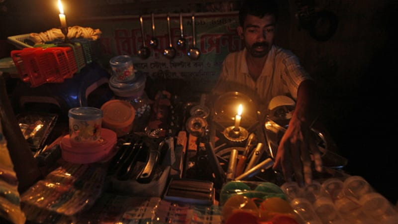 On July 31, blackouts rolled across India's north and east, causing about 450 million people to lose power [Reuters]