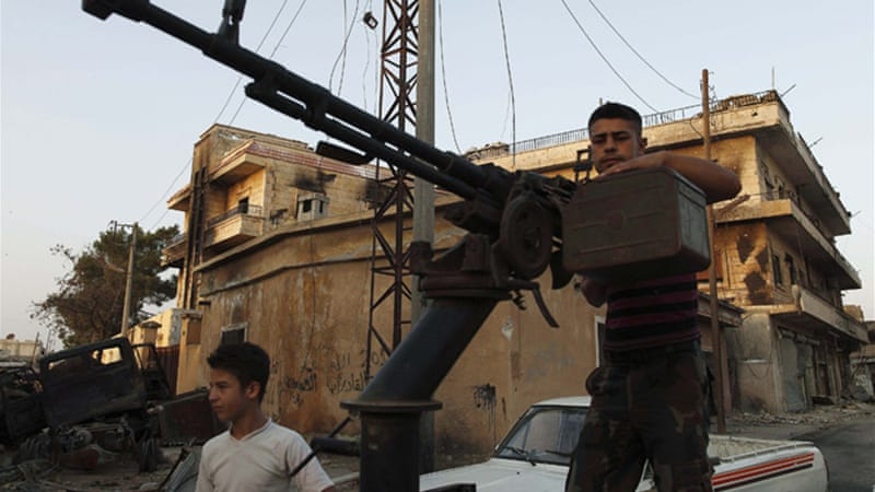 The UN says it has confirmation that rebels now have heavy weapons of their own, including tanks [Reuters]