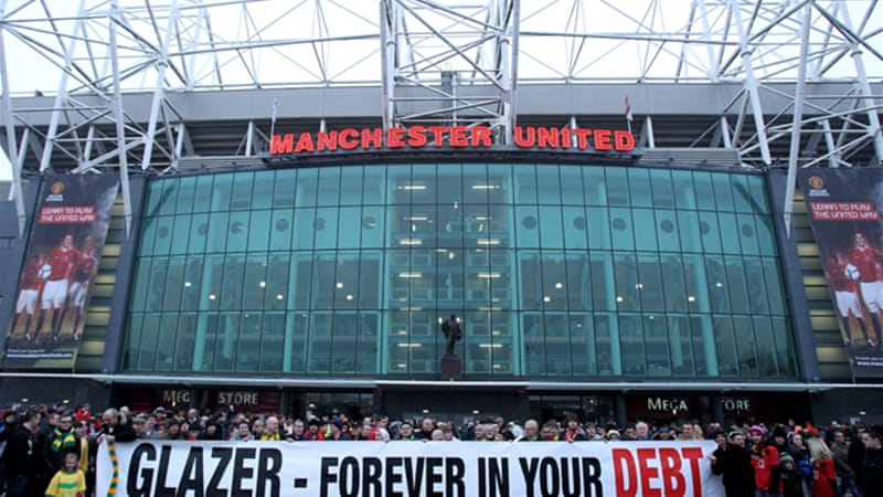 The club's American owners, the Glazer family, have faced continuing protests from United fans after taking over in 2005 in a leveraged buyout that left the club with large debt repayments [GALLO/GETTY]