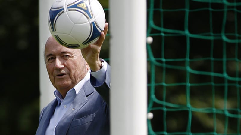 Blatter has backed goal-line technology after England were denied a clear goal by midfielder Frank Lampard against Germany in the World Cup 2010 [Reuters]