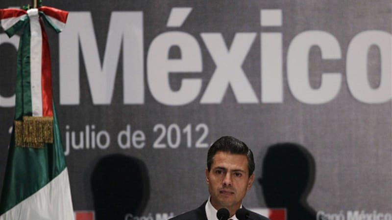 Lopez Obrador alleges Pena Nieto's party bought votes but he has not specified how many votes were bought [Reuters]