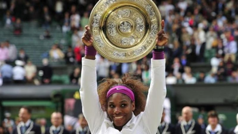 A brilliant 2012 for Serena Williams who scooped a fifth Wimbledon title, Olympic singles and doubles gold and a fourth US Open crown [AFP]