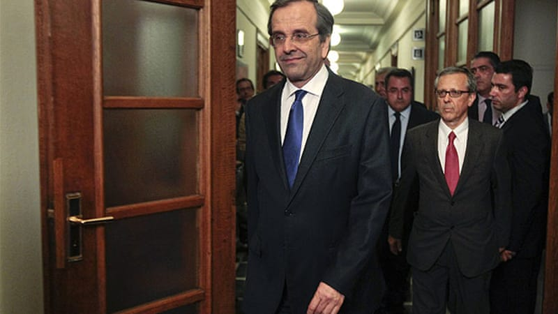 Antonis Samaras's government stumbled off to a rocky start but has won a confidence vote in parliament [Reuters]