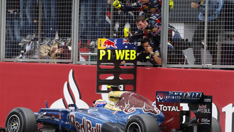 Webber's ninth career win at Silverstone denied Fernando Alonso a second successive victory and slashed the Ferrari driver's lead to 13 points [Reuters]