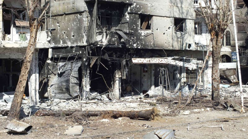 Clashes between rebel fighters and government forces have wrought great destruction [Reuters]