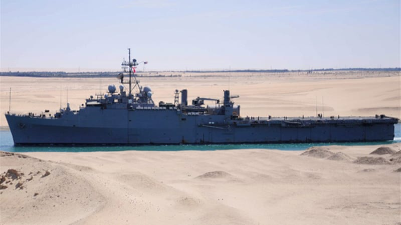 The US has recently moved it's warship, the USS Ponce, into the Gulf to keep the strategic waterway open [EPA]