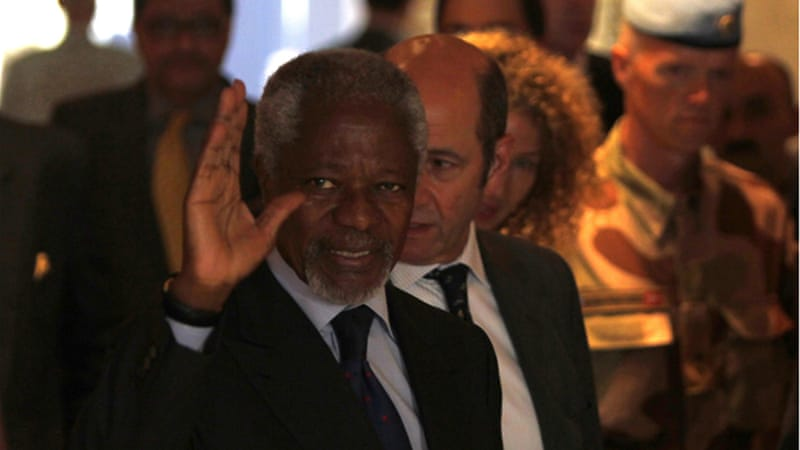 International peace envoy Kofi Annan arrived in Damascus on Sunday [Reuters]
