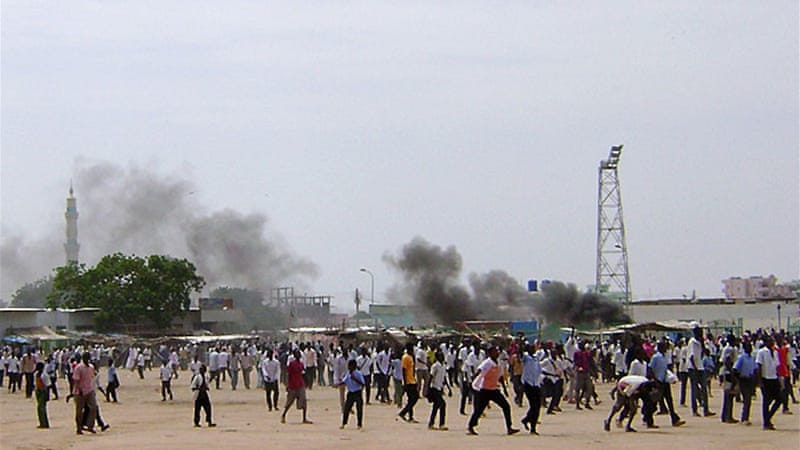Protesters in Sudan's troubled Darfur region stoned government offices during a major anti-austerity protest [AFP]