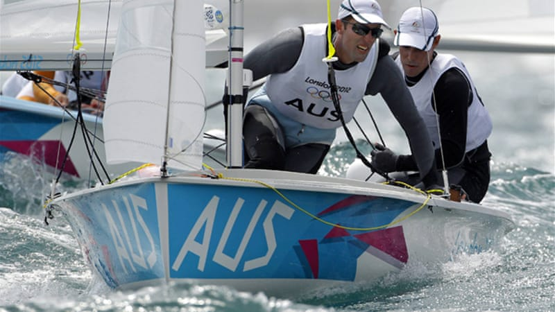Australia's Mathew Belcher and Malcolm Page steered their country to one more sailing gold, outdoing their British rivals by three to one in the top prize [EPA]