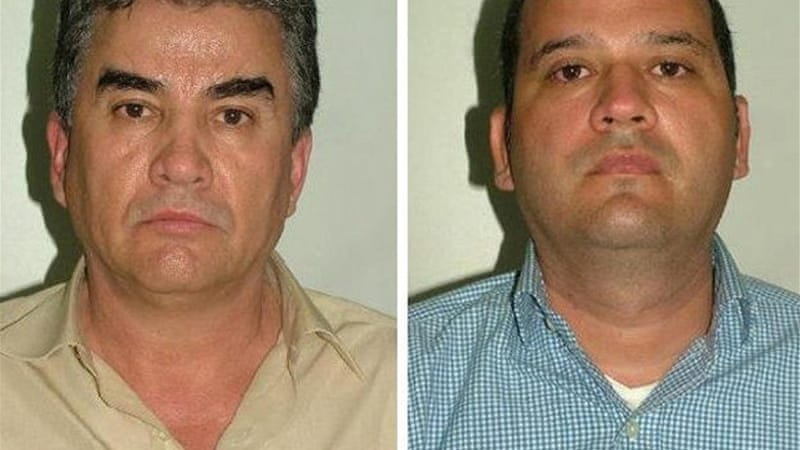 Jesus Guzman, left, is alleged to be the cousin of Joaquin Guzman, the leader of the cartel [EPA]