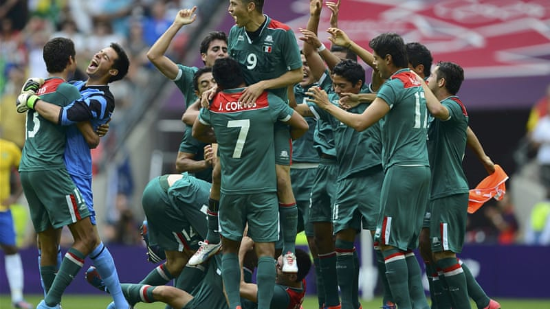 Mexico were unlikely winners after an early and late goal put game out of Brazil's reach [Reuters]