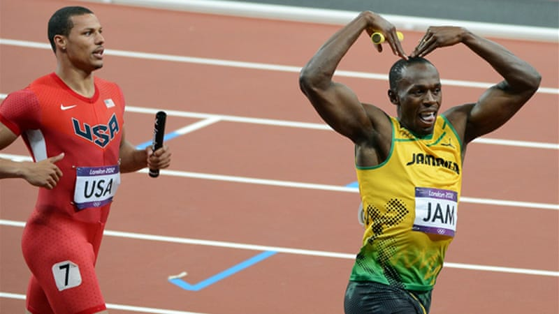 Bolt stormed the last leg as Jamaica finished ahead of the United States [GALLO/GETTY]
