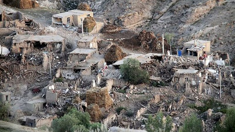 Villages near the towns of Ahar and Varzaghan, 60km from Tabriz, have been decimated [AFP]