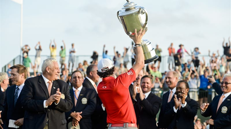It's McIlroy's fourth reign at the top of the rankings – he first reached the position in March this year, then again in April and May, each time losing it to Luke Donald [EPA]