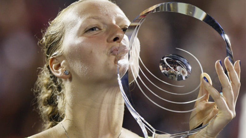 The 22-year-old overcame a mid-match slump to win her first WTA Tour victory of the year [Reuters]
